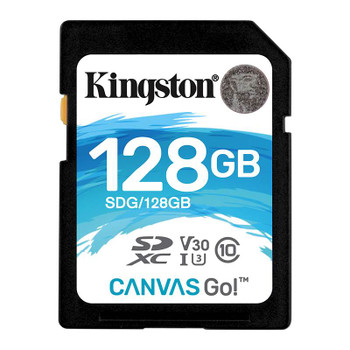 Image for Kingston 128GB Canvas Go SDXC UHS-I U3 Class 10 Memory Card - 90MB/s AusPCMarket