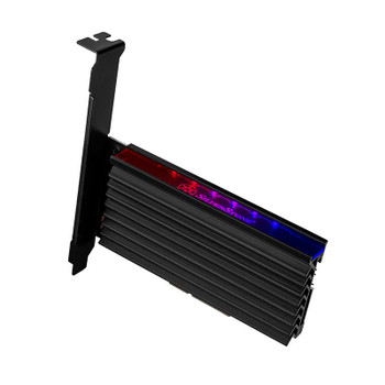 Image for Silverstone M.2 NVMe SSD NGFF to PCIe x4 ARGB Adapter Card with Heatsink AusPCMarket