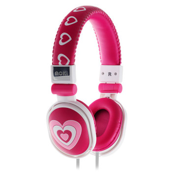 Image for Moki Popper Headphones - Hearts 3 AusPCMarket