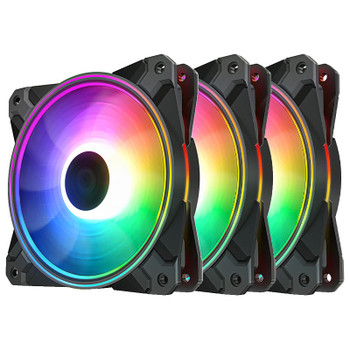 Image for Deepcool CF120 PLUS 120mm A-RGB LED Case Fan - 3 Pack AusPCMarket