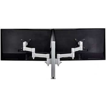 Image for Atdec AWMS-2-4640F-S 400mm Post Dual Articulating Monitor F Clamp - Silver AusPCMarket