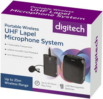 Digitech Portable Wireless UHF Lapel Microphone System Product Image 2