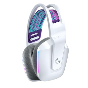 Logitech G733 LIGHTSPEED Wireless RGB Gaming Headset - White Product Image 2