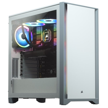 Image for Corsair 4000D Tempered Glass Mid-Tower ATX Case - White AusPCMarket