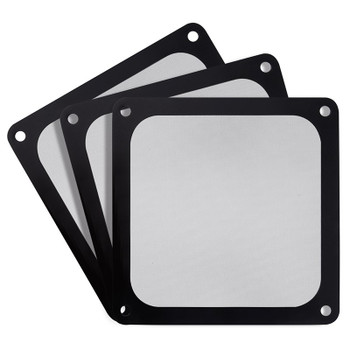Image for SilverStone 120mm Black Ultra Fine Magnetic Fan Filter - 3 Pack AusPCMarket