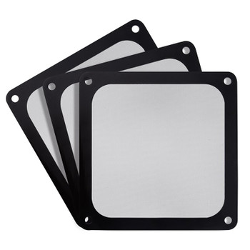 Image for SilverStone 140mm Black Ultra Fine Magnetic Fan Filter - 3 Pack AusPCMarket