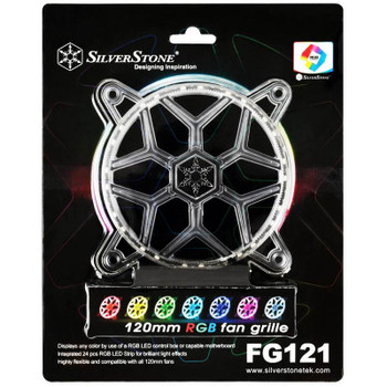 Image for SilverStone FG121 120mm RGB LED Fan Grille AusPCMarket