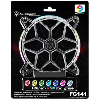 Image for SilverStone FG141 140mm RGB LED Fan Grille AusPCMarket