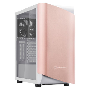 Image for SilverStone Seta A1 Tempered Glass Mid-Tower ATX Case - Rose Gold AusPCMarket
