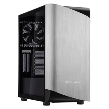 Image for SilverStone Seta A1 Tempered Glass Mid-Tower ATX Case - Silver AusPCMarket