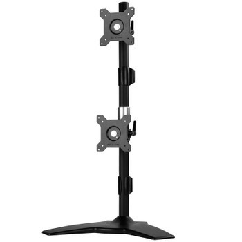 SilverStone ARM24BS Vertical Dual Monitor Desk Stand Product Image 2