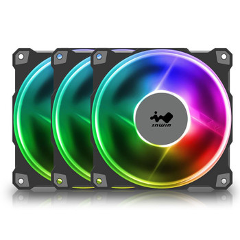 Image for In Win Jupiter AJ120 120mm ARGB PWM Case Fan - 3 Pack with Controller AusPCMarket