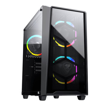 Image for Cougar MG120-G RGB Tempered Glass Micro-ATX Mini Tower Case - Black AusPCMarket