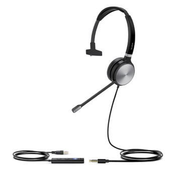 Image for Yealink UH36-M Mono Wideband Noise Cancelling USB Wired Headset AusPCMarket