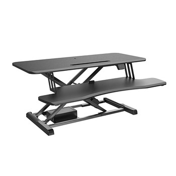 Image for Brateck DWS15-02 Electric Sit-Stand Desk Converter with Keyboard Tray Deck AusPCMarket