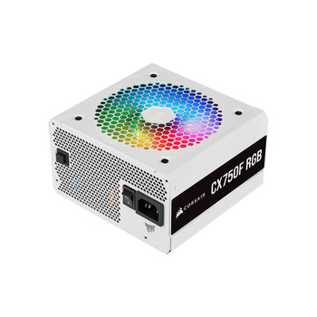 Image for Corsair CX Series CX750F RGB White - 750 Watt 80 Plus Bronze Certified Fully Modular RGB White PSU AusPCMarket