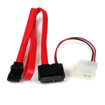 Image for StarTech 20in Slimline SATA to SATA w/ LP4 Power Cable Adapter AusPCMarket