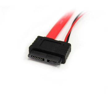 StarTech 20in Slimline SATA to SATA w/ LP4 Power Cable Adapter Product Image 2