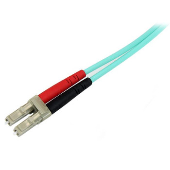 StarTech 1m LC Fiber Optic Cable 10Gb Aqua - MM Duplex 50/125 - LSZH Product Image 2