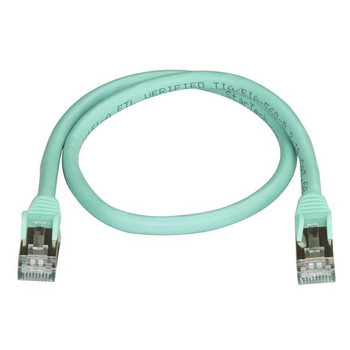 StarTech 0.5m Aqua Cat6a Ethernet Cable - Shielded (STP) Product Image 2