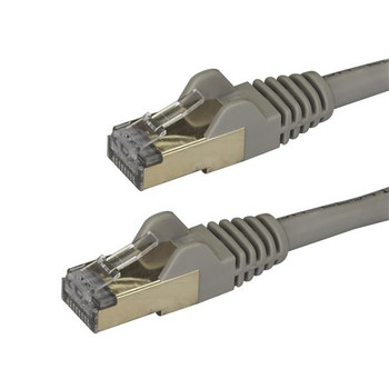 Image for StarTech 0.5m Gray Cat6a Ethernet Cable - Shielded (STP) AusPCMarket