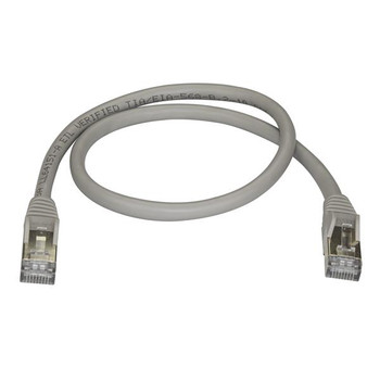 StarTech 0.5m Gray Cat6a Ethernet Cable - Shielded (STP) Product Image 2