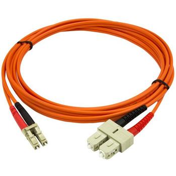 StarTech 2m Fiber Optic Cable - Multimode Duplex 50/125 LSZH - LC/SC Product Image 2