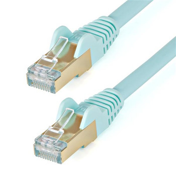 Image for StarTech 1.5 m CAT6a Cable - Aqua - Snagless RJ45 Connectors AusPCMarket