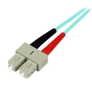 StarTech 5m Fiber Optic Cable Aqua - MM Duplex 50/125 - LSZH - LC/SC Product Image 2