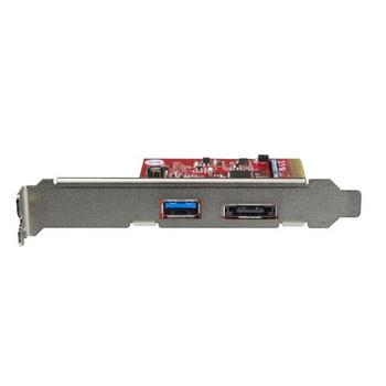 StarTech 2 Port USB 3.1 (10Gbps) + eSATA PCIe Card 1x USB-A 1x eSATA Product Image 2
