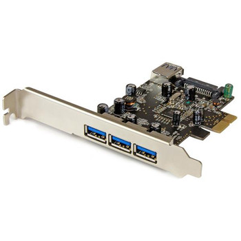 Image for StarTech 4Port PCIe USB 3.0 Adapter Card - 1 Internal & 3 External AusPCMarket