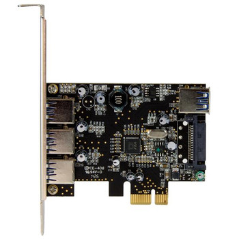 StarTech 4Port PCIe USB 3.0 Adapter Card - 1 Internal & 3 External Product Image 2