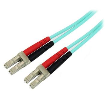 Image for StarTech 10m LC Fiber Optic Cable 10Gb Aqua - MM Duplex 50/125 - LSZH AusPCMarket