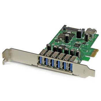 Image for StarTech 7 Pt PCIe USB 3.0 Adapter Card - SATA Power - UASP Support AusPCMarket