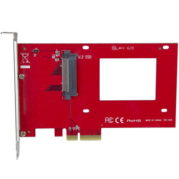 StarTech U.2 to PCIe Adapter - 2.5in U.2 NVMe SSD - SFF-8639 - x4 PCIe Product Image 2