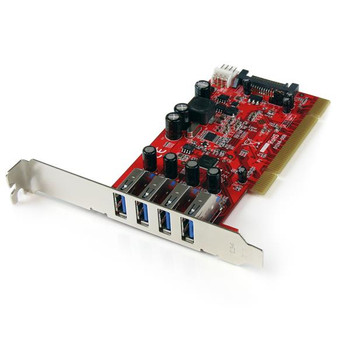 Image for StarTech Quad Port PCI SuperSpeed USB 3 Controller Card with SATA Power AusPCMarket