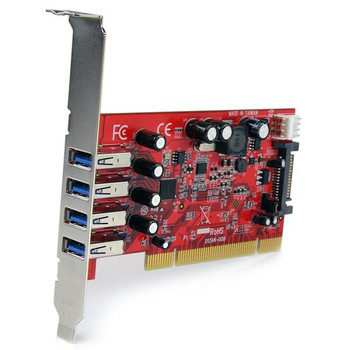 StarTech Quad Port PCI SuperSpeed USB 3 Controller Card with SATA Power Product Image 2
