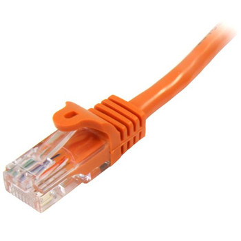 StarTech 5m Orange Cat5e Ethernet Patch Cable - Snagless Product Image 2