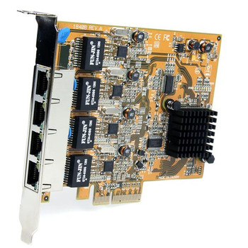 StarTech Quad Port PCI Express Gigabit Ethernet NIC Network Adapter Card Product Image 2