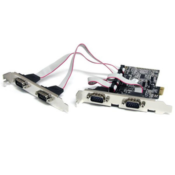 Image for StarTech 4 Port PCI Express RS232 Serial Adapter Card with 16550 UART AusPCMarket