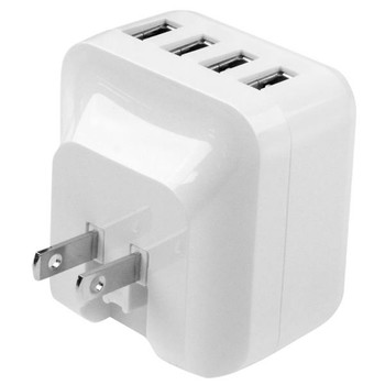StarTech 4-Port USB International Wall Charger - 34W/6.8A - White Product Image 2