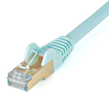 StarTech 7.5 m CAT6a Cable - Aqua - Snagless RJ45 Connectors Product Image 2