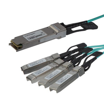 Image for StarTech 15m Cisco QSFP-4X10G-AOC10M Compatible - QSFP+ to 4x SFP+ AusPCMarket