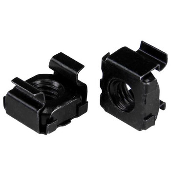 Image for StarTech 100 Pack of M6 Cage Nuts - M6 Mounting Cage Nuts Black AusPCMarket