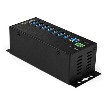 StarTech 7-Pt Industrial USB 3.0 Hub w/ Ext. Power Supply Product Image 2