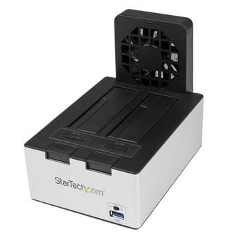 Image for StarTech USB 3.0 Dual SATA HDD Dock w/ Fast Charge Hub & UASP - Black AusPCMarket