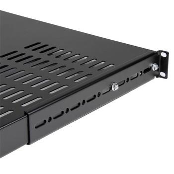 StarTech 1U Adjustable Depth Vented Server Rack Shelf Product Image 2