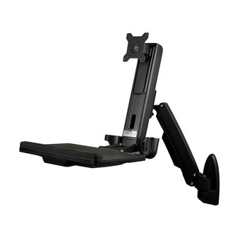 StarTech Wall Mounted Sit Stand Desk - for Single Monitor up to 24in Product Image 2