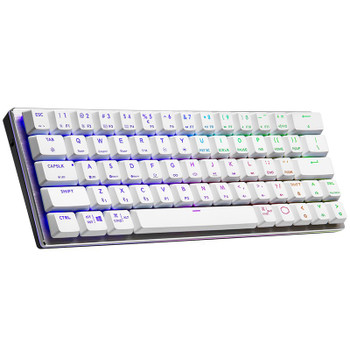 Image for Cooler Master SK622 White RGB Compact Wireless Mech Keyboard - Low Profile Red AusPCMarket