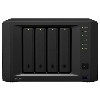 Image for Synology DVA3221 4-Bay 32 Channel Diskless NVR Quad-Core CPU GTX 1650 8GB RAM AusPCMarket